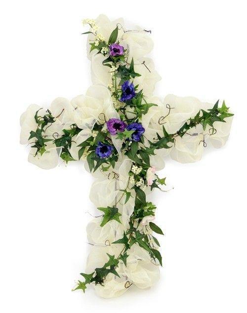 Diy Easter Cross Wreath With Video Tutorial