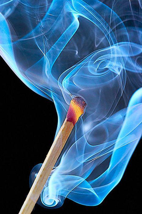 Flaming match....