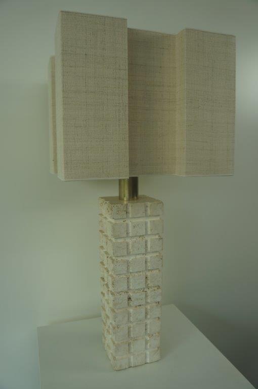 Vintage table lamp, travertin, Italian