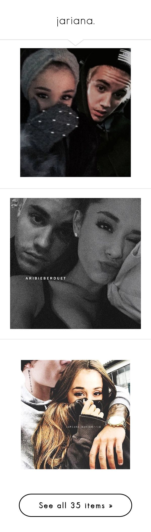 """""""jariana."""" by arianuhan0nn ❤ liked on Polyvore featuring ariana grande, jariana, ariana, ariana manips, justin bieber, justin & ariana, pictures and manips"""