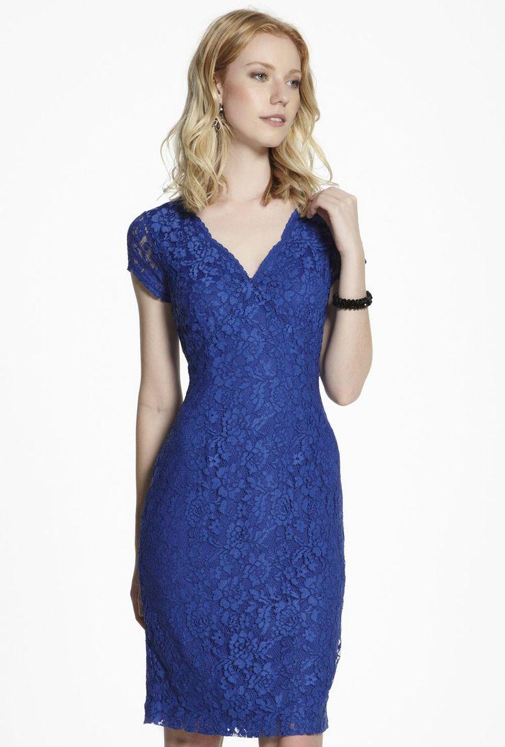 Lace Cap Sleeve Dress $159