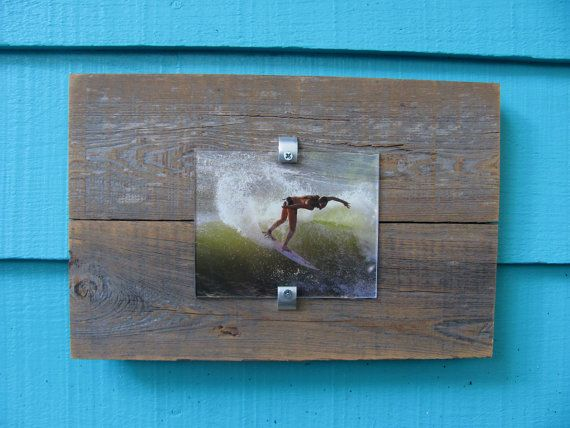 Recycled wood picture frame upcycled rustic meets by JohnBirdsong, $28.00