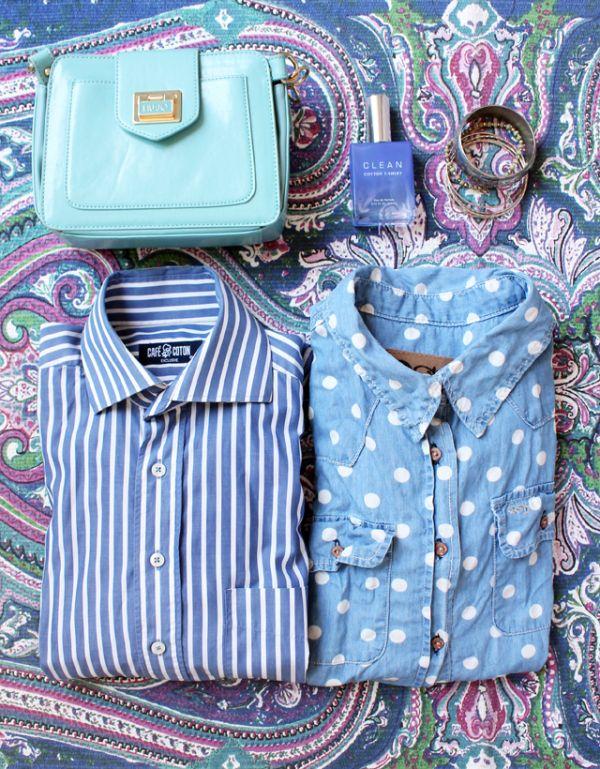 """Les chemises (Vintage et Quiksilver Women) et l'imprimé du tapie (Zara home)""""Malvina, Paris 18ème"""""""