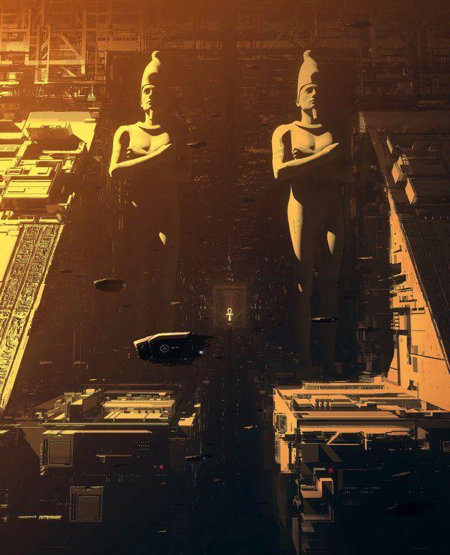 Cyberpunk Egypt, by Daniel Liang, Digital, 2017 : Art