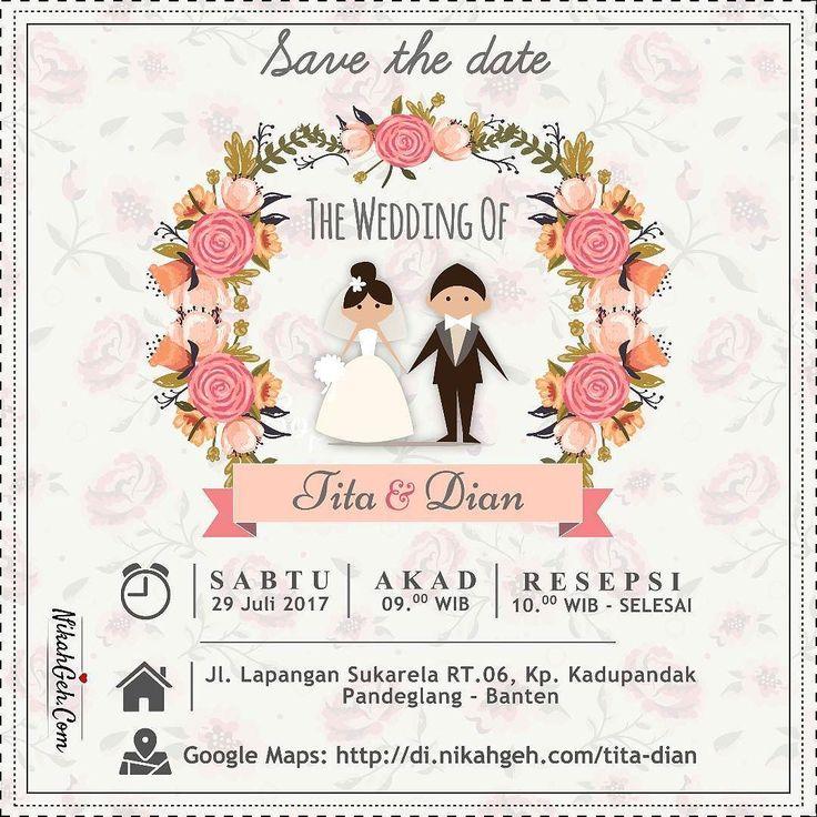 https://nikahgeh.com - E-Invitation Tita & Dian . Tanya-tanya atau info lebih lanjut hubungi : WA : 08561410064 Line : nikahgeh Desain bisa cek di http://nikahgeh.com #weddingserang#undanganserang #infoserang #undanganminimalis #simpleinvitation #testinikahgeh #undanganpernikahanmurah #undangancantik #pesanundangan #invitationserang#kotaserang#undangancilegon #undanganpandeglang#undanganmurah #undanganpernikahan#undanganonline #undangankreatif#undanganunik#nikah…