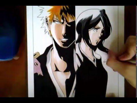 Speed Drawing - Kurosaki Ichigo and Kuchiki Rukia (Bleach) - YouTube