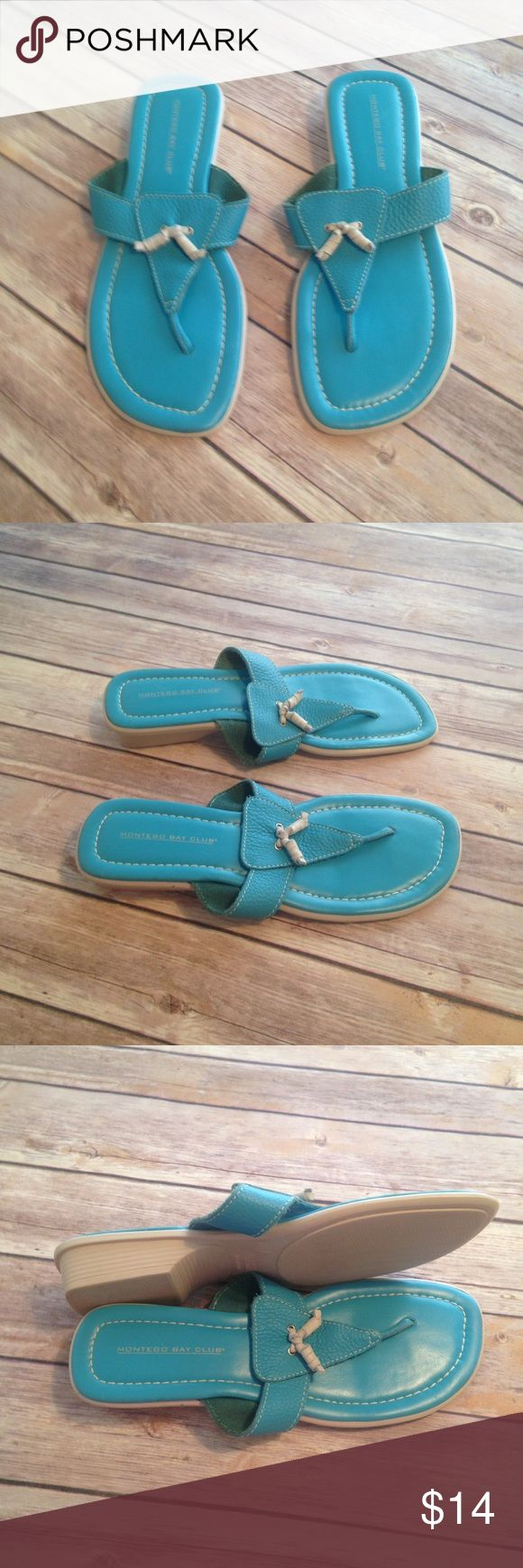 Montego Bay Club Teal Sandals Size 9.5 Montego Bay Club Size 9.5 Teal Sandals. Excellent Condition. Worn once. Montego Bay Club Shoes Sandals
