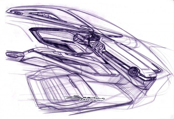 New Audi TT Interior Design Sketch