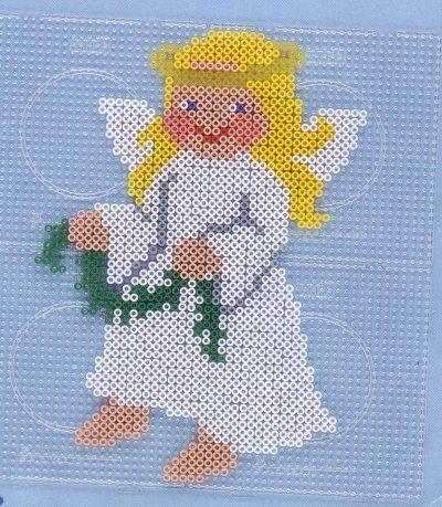Christmas Angel hama beads pattern