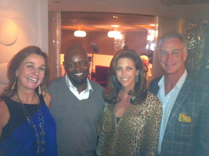 Dee Lincoln Del Friscos With Emmett Smith Daryl Johnston And Wife At LincolnBubblesDining RoomsTexas