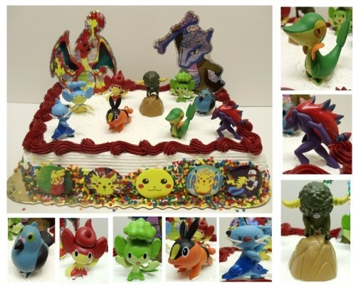 Pokemon 17 Piece Cake Topper Featuring Snivy, Tepig, Dewott, Pansage, Pansear, Panpour, Cottonee, Pidove, and Zoroark and Pokemon Decorative Cake Pieces by Pokemon, http://www.amazon.com/dp/B007AY8QKU/ref=cm_sw_r_pi_dp_IHsHrb1WT8QKN