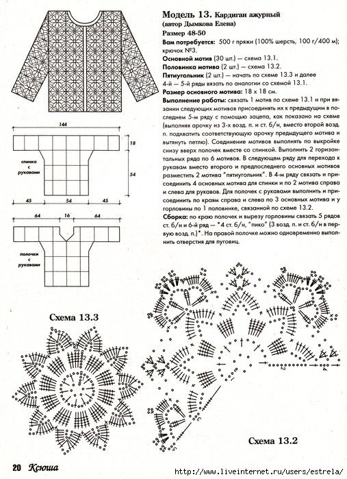 выбора показателей женские кофточки крючком фото и схемы производстве наименование суда