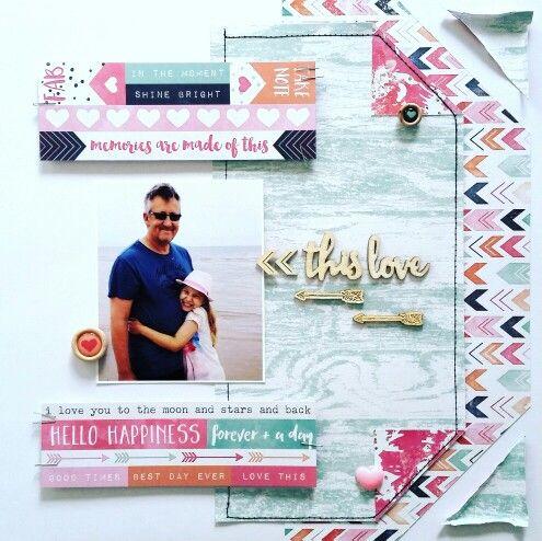 Cocoa Vanilla Studio : Free Spirit Collection : This Love layout by Amanda Baldwin