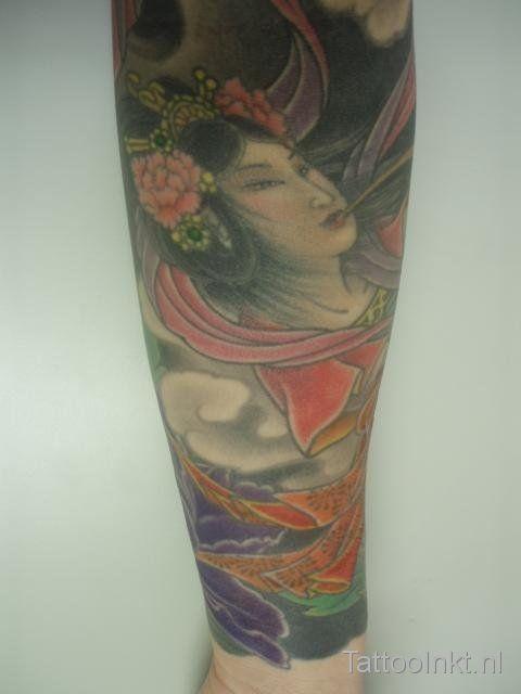 Yoko Uki - full body suit tattooed by Shige, Yellow Blaze tattoo studio, Japan