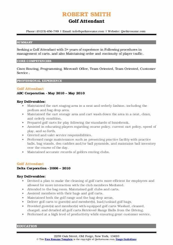 Golf Caddy Resume Examples In 2021 Resume Examples Resume Good Resume Examples