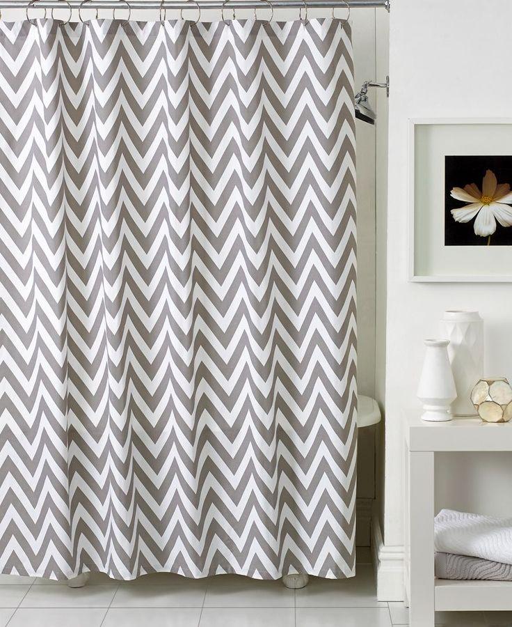 Kassatex Bath Accessories Chevron Shower Curtain Shower