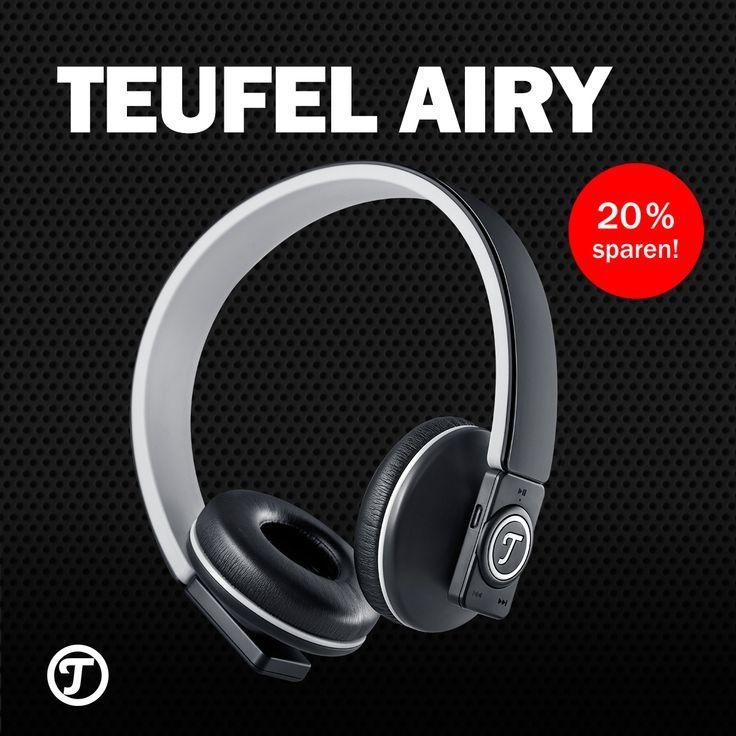 Teufel AIRY: Jetzt sichern und mit Gutschein weitere 20 % sparen! Mit Bluetooth 4.0, 20 Stunden Akkulaufzeit & Freisprecheinrichtung ist der AIRY dein Buddy fürs kabellose Musik hören, Telefonieren & gamen. Leicht wie eine Feder, erhältlich in verschiedenen Farben passt er perfekt zu dir. Das einzig Schwere ist der Sound. Ein echter Champion.