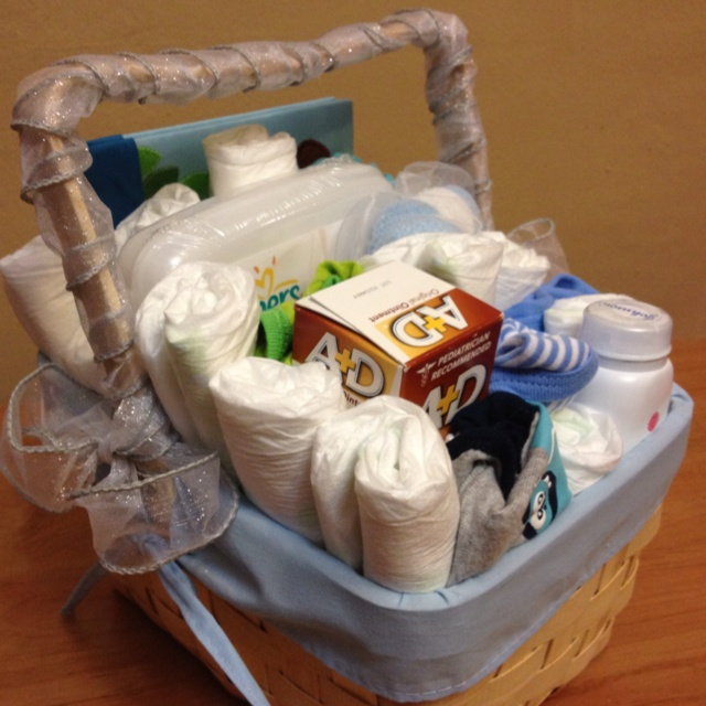 Finished Gift Basket - Boy Baby Shower :)
