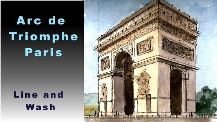 Draw and paint the Arch of Triumph, also how to resize the drawing to suit.