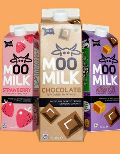 'Moo milk', een loeiend leuke melkverpakking #Melk #milk #Packaging