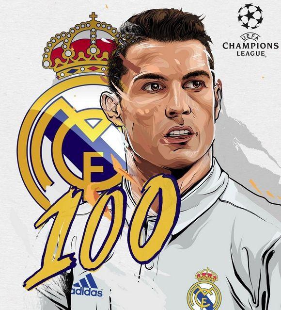 Cristiano Ronaldo-100 goals in Champions League!