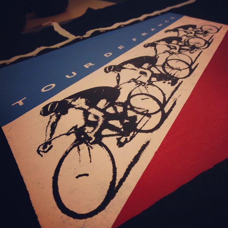 """""""Tour De France"""" Diseño y Estampado en Serigrafía. BRUGGE Diseño y Producción."""