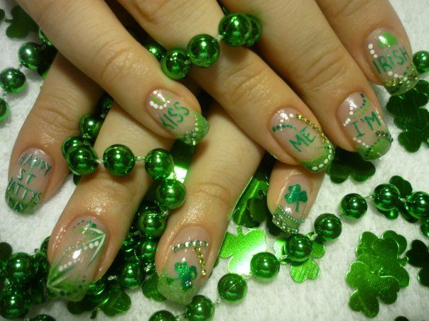 Kiss Me, I'm Irish. If only I had the patience to do this..Nails Style, Irish Nails, Nails Design, Polish Nails, Nail Designs, Nails Polish Design, Nails Art Design, Design Nails, Art Nails