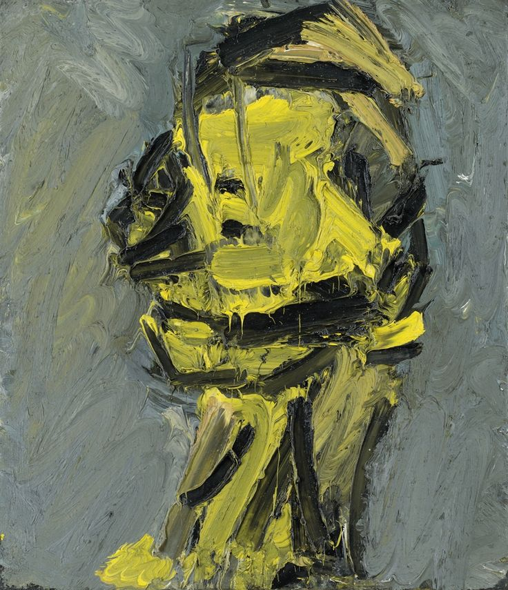 Frank Auerbach (British, b. 1931), Head of Paula Eyles, 1970. Oil on canvas