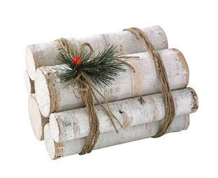 Decorating our unused fireplace - birch log bundle