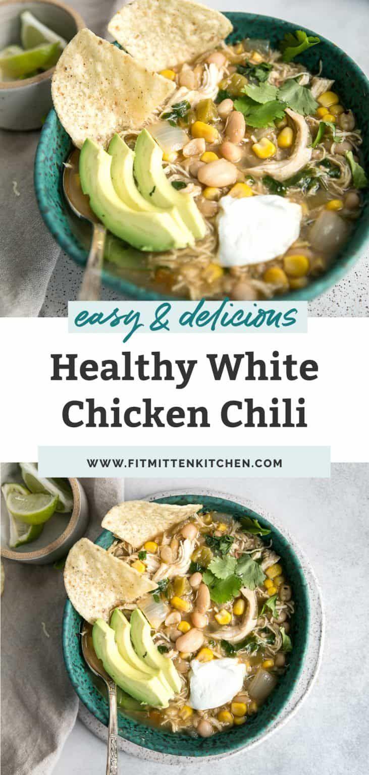 Easy White Chicken Chili Recipe Healthy Fit Mitten Kitchen Recipe White Chicken Chili Healthy Easy White Chicken Chili Recipe White Chili Chicken Recipe