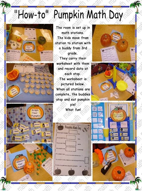 Pumpkin math day...