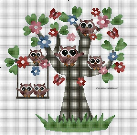 Exceptionnel 279 best broderie chouettes images on Pinterest | Cross stitch owl  SG92