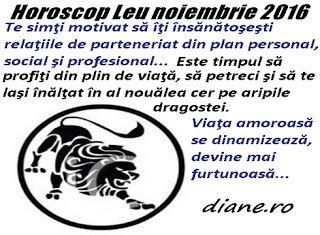 diane.ro: Horoscop Leu noiembrie 2016