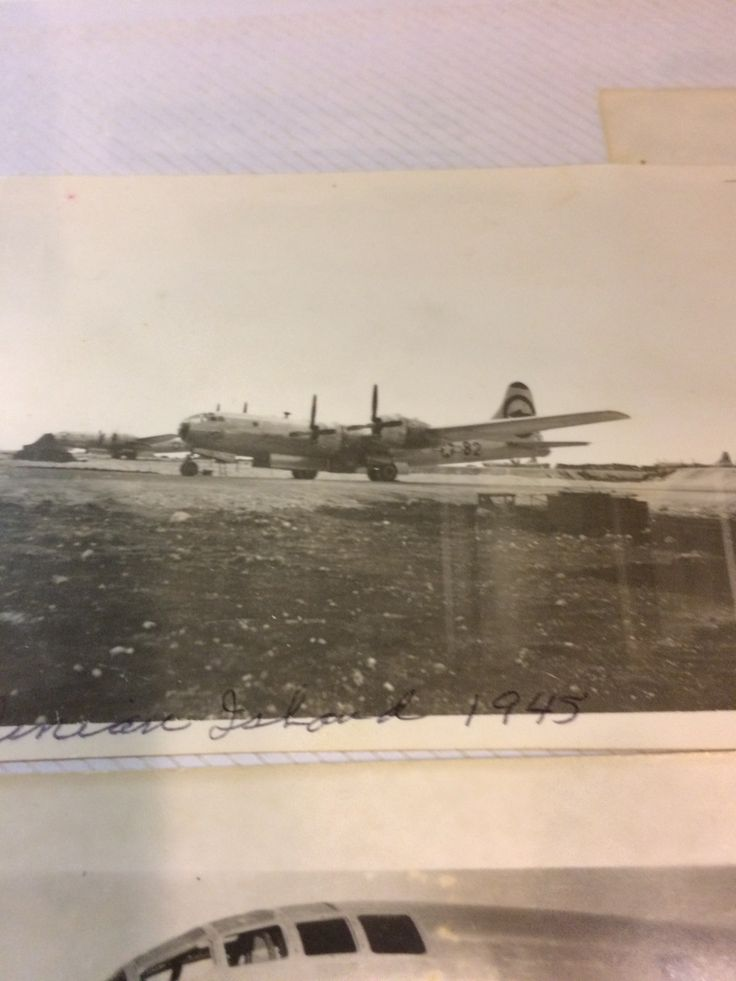 B-29 Victor no. 82 on Tinian Island. (Personal photo collection)