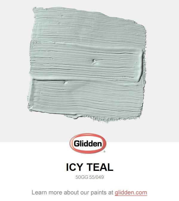 Icy Teal Paint Color Glidden Colors For The House Pinterest And White