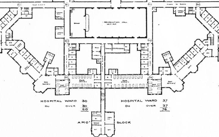 Floor Plan Of Hellingly Mental Hospital Hellingly