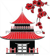 japanese pagoda outline - Google Search