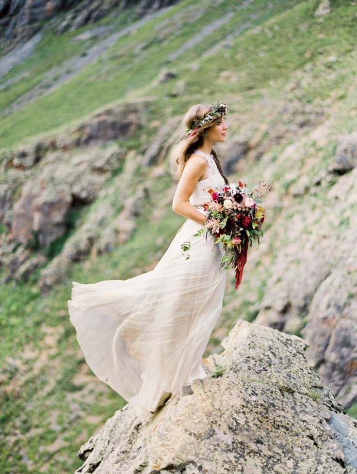 #bhldn  Photography: Brumley and Wells - brumleyandwells.com  Read More: http://stylemepretty.com/2013/10/11/rugged-mountain-shoot-from-brumley-and-wells/