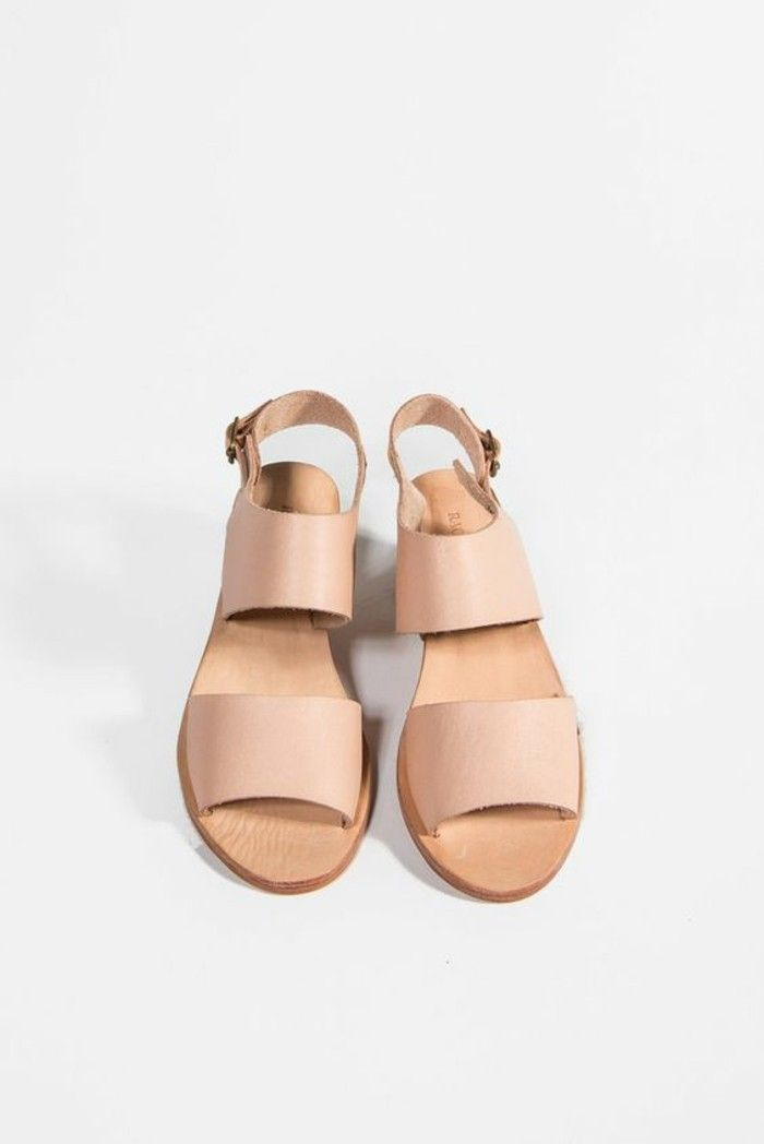 chaussures dt femme en cuir beige les dernieres tendances sandales femme pas cher - Chaussure Mariage Femme Gemo