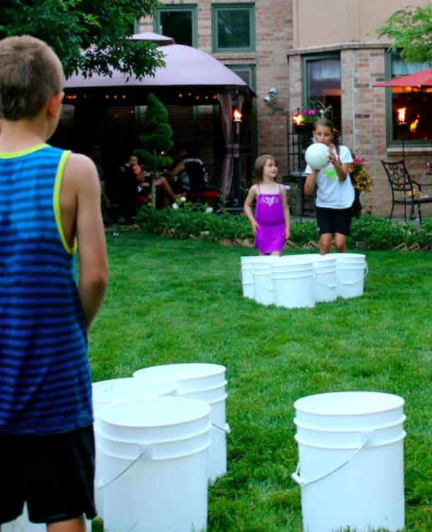 Kind of like beer pong except kid-friendly. Get the instructions from Momtastic.