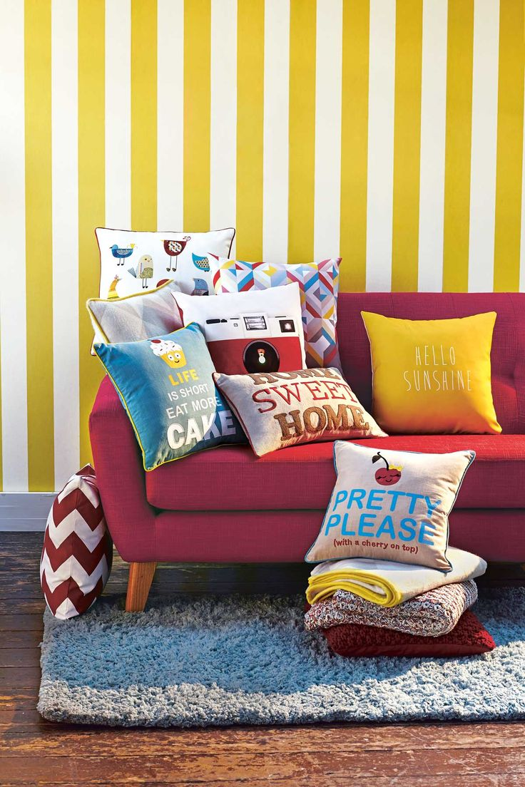 Retro Cushions To Brighten Up Any Living Room This Spring