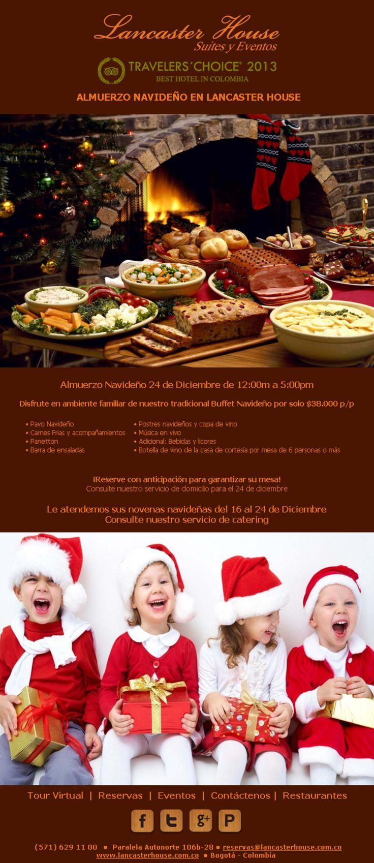 Almuerzo Navideno en Lancaster House Suites. #hotel, #bogota,#special offers # ofertas especiales, #navidad #christmas #xmass