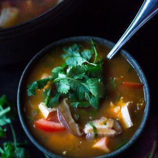 Vietnamese Hot and Sour Tamarind Soup | www.feastingathome.com