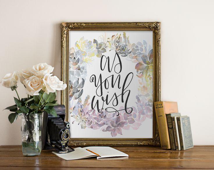 As You Wish Princess Bride Printable Art Quote