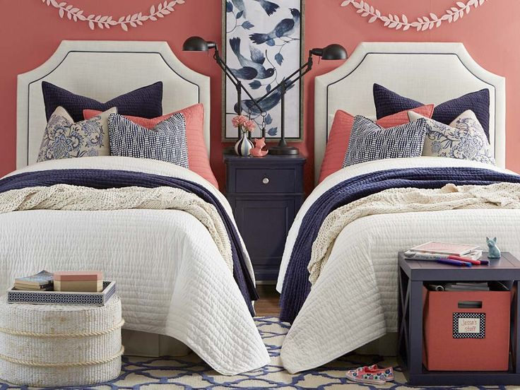 Florence Clipped Corner Upholstered Twin Headboards By