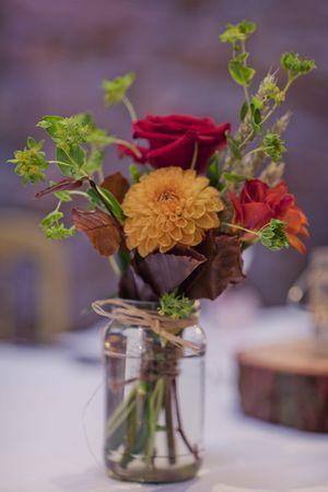 Autumn flowers Autumn wedding table centrepieces... @Mark_Tattersall