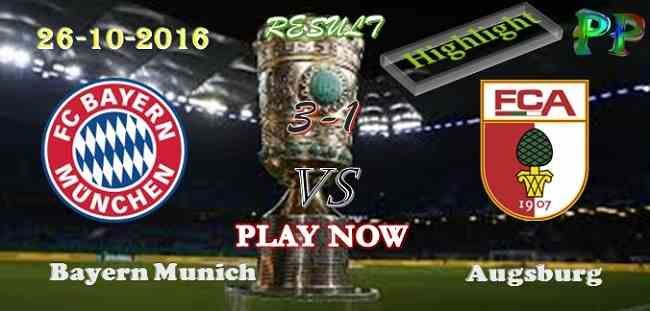 Bayern Munich 3 - 1 Augsburg 26.10.2016 HIGHLIGHTS - PPsoccer