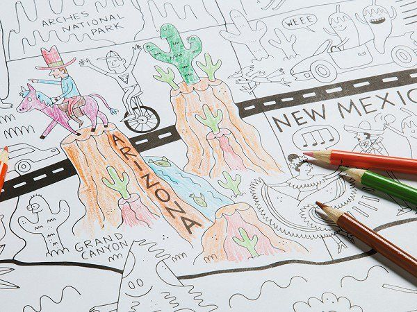 America Coloring Posters by Pirasta