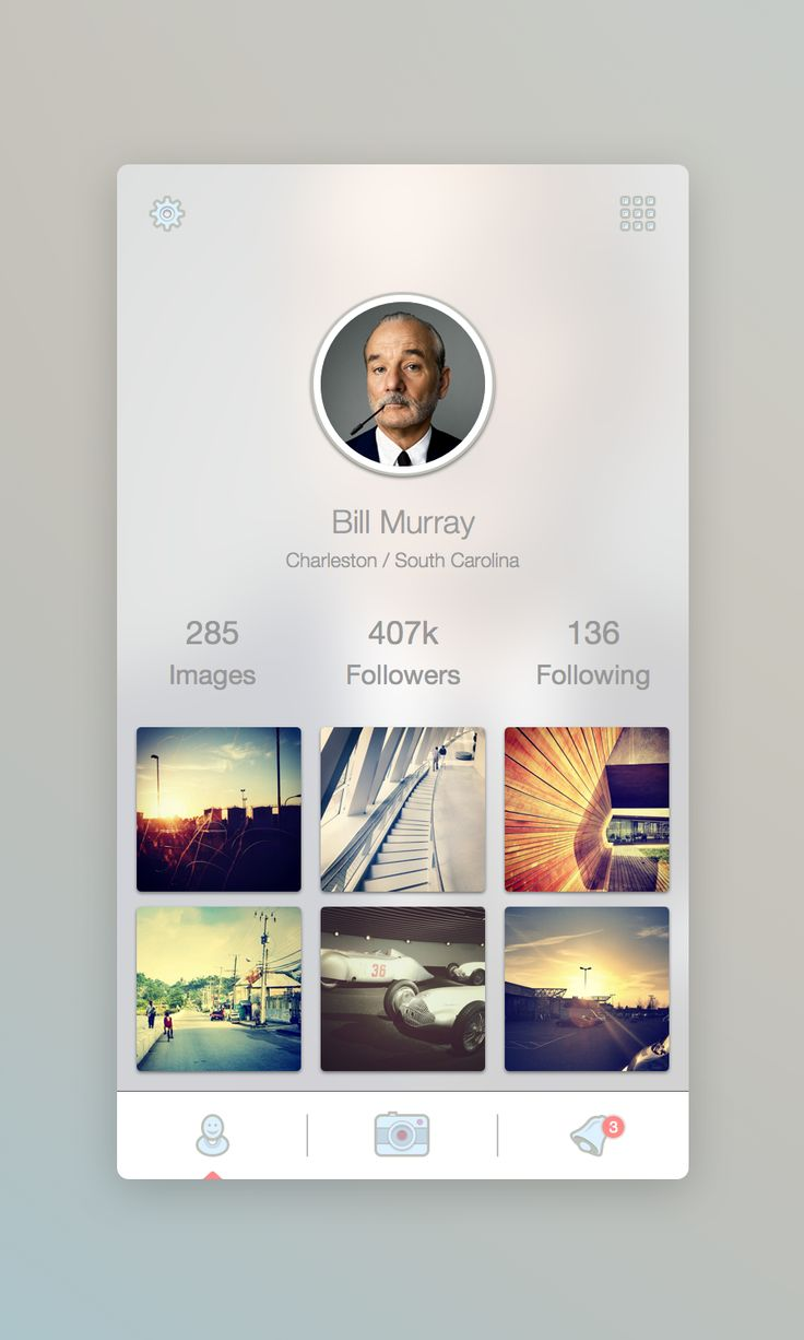 Profile Screen by Martin David #mobile #ui #design