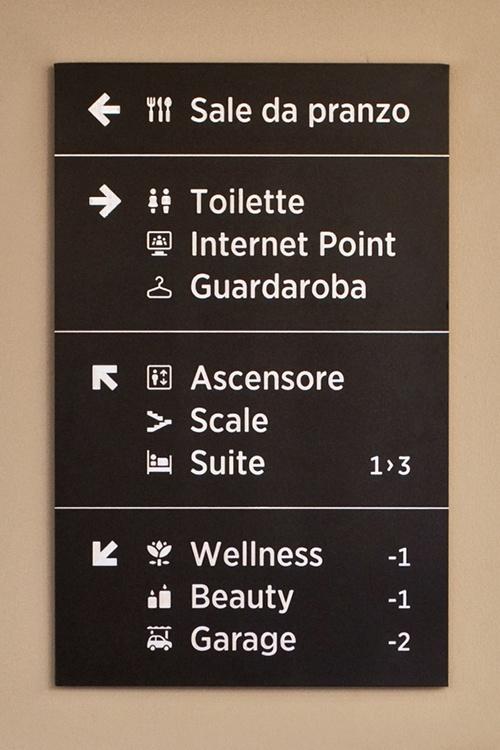 ピクトグラム Al Sole Hotel wayfinding system 2
